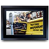 HWC Trading A3 FR Only Fools & Horses TV Series Poster David Jason Nicholas Lyndhurst Buster Merryfield Signed Gift FRAMED A3