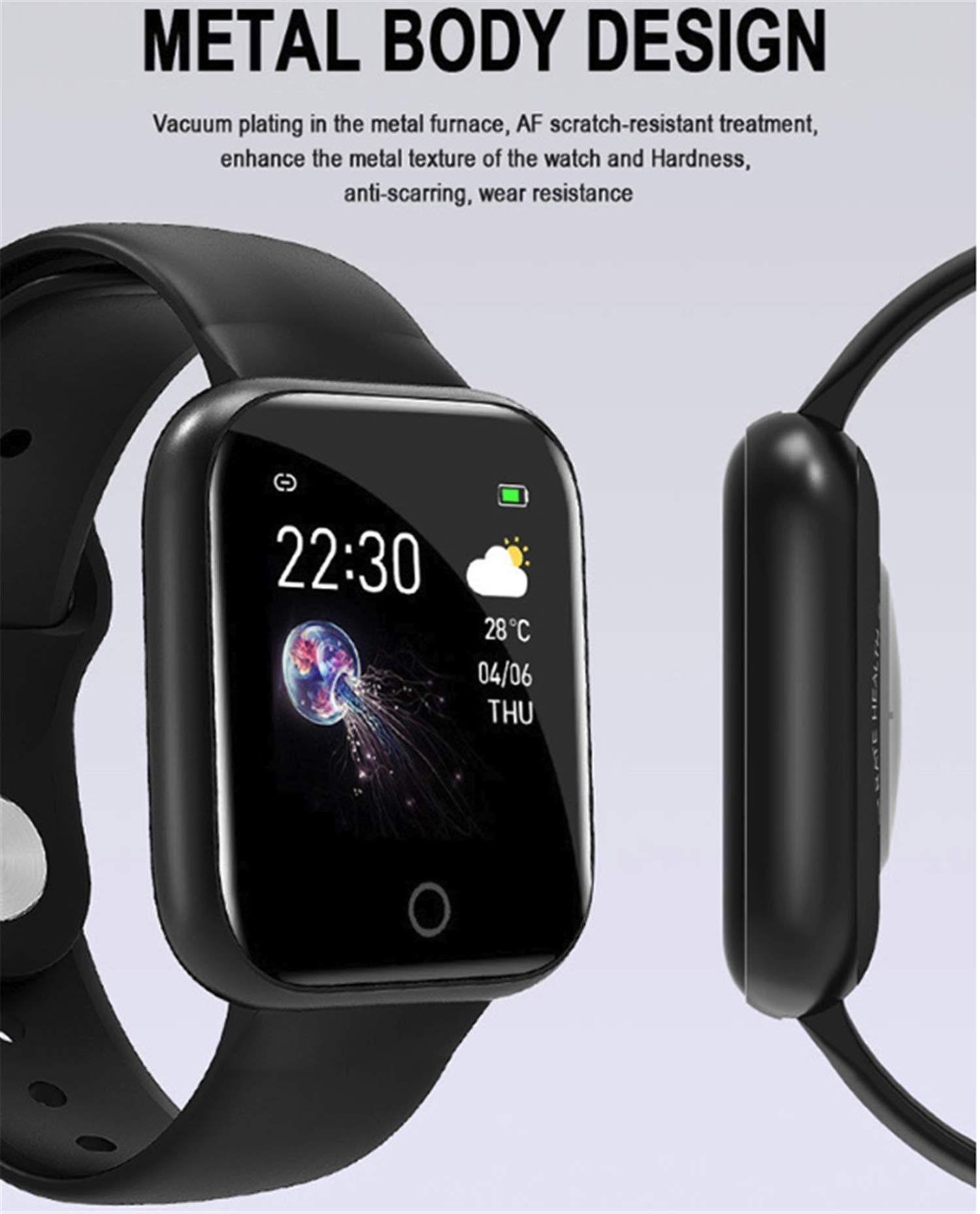 linyingdian Smartwatch, Reloj Inteligente Impermeable IP67 Pulsera de Actividad Inteligente con Monitor de Sueño Pulsómetros Podómetro Contador de Caloría, para Hombre Mujer niños 9