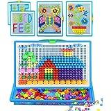 ITODA 295pcs Mosaique Creative Puzzle Jouet Bloc de magnétique Jouet Educatif Créatif DIY Jeu de Construction Colorée Cadeau