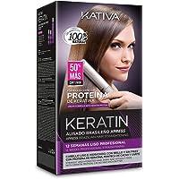 Kativa - Keratin Alisado Brasileño, Kit Stiratura Brasiliana - Trattamento Professionale Lisciante Anti Crespo alla…