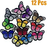 Clothing Caps GROHOME 12pcs Embroidered Iron on Applique Patches for DIY Jeans Jacket Shoes Handbag Summer