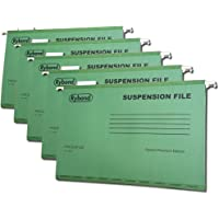 Rybond Foolscap Suspension File (25 Pack) Manilla with Tabs and Inserts A4 Green for Filing cabinets - Make The Greener Choice - Contains up to 50% postconsumer Recycled Content.