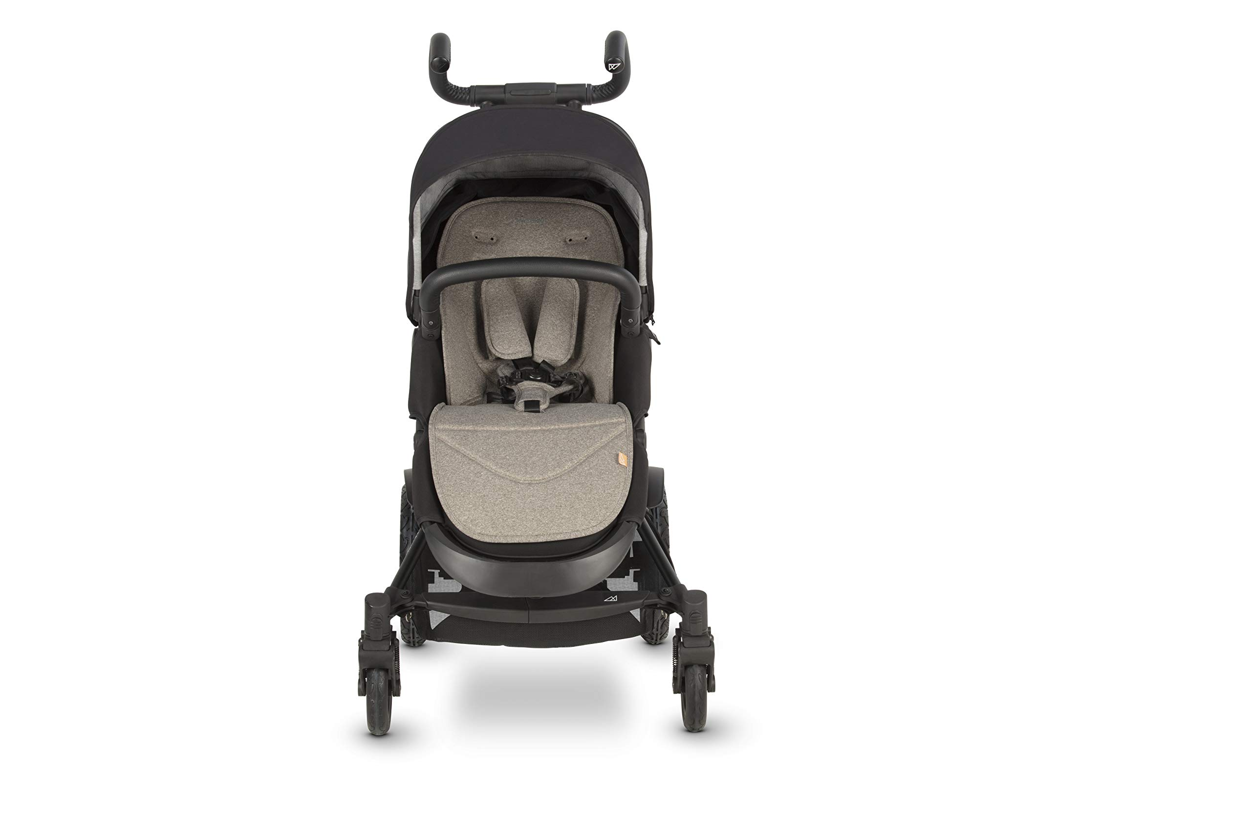 Micralite TwoFold Pushchair - Carbon. Suitable from 6 Months to 4 Years. Add Carrycot to Convert to Travel System Micralite QUICK FOLD - The TwoFold folds into one piece, with one movement. Once folded it free stands for ease of storage at home or out and about. To transport when not in use simply drag it along behind you. ALL-TERRAIN WHEELS - Large air filled back tyres, high mud guards and great ground clearance mean you can still go anywhere even with two in tow. You don't have to worry about getting a puncture either as the pneumatic tyres are lined with Kevlar - the same fibre used in bullet proof vests! WEATHERPROOF FABRICS - Dressed with signature Micralite high quality weatherproof fabrics, the hood of the TwoFold turns water just aswell as it deflects the sun's harmful rays. We also include a storm cover for more extreme weather - so nothing can stop you and your little one from getting out there. 7