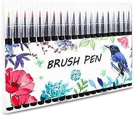 Firbon 20 colori Watercolor Brush Pen Set con Vera Punta a Pennello adatti alla calligrafia inchiostri colorati ottimi per manga, per colorare, per designer, creare effetti acquerellati, disegnare fumetti