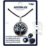 Collar de árbol de la Vida con Colgante Piedra Natural Energeticas - Distintas Piedras Semipreciosas