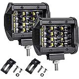"LTPAG 2pcs Faro Trabajo Led, 4"" 72W 14400LM Focos LED Tractor 12V-24V 6000K Focos LED para Tractores IP68 Impermeable Luz de"