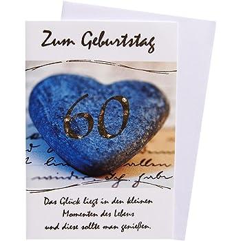 Gluckwunschkarte Grusskarte 60 Geburtstag Amazon De Burobedarf