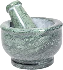 Pooja Creation Green Mortar And Pestle Set, Kharad, Masher Spice Mixer For Kitchen 4 Inches