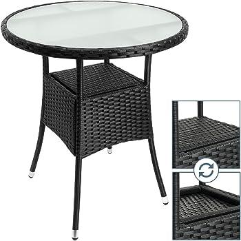 Amazon De Deuba Polyrattan Tisch Beistelltisch Rattan Teetisch