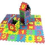 Cokil 36PCS i Capretti educativi alfanumerici della Gomma Piuma di Puzzle dei Capretti del Bambino bloccano Il Regalo del g Puzzle 3D