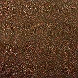 DecoHomeTextil Folie Transparent 0,22mm LFGB Glitter Glitzer Kupfer Breite & Länge Wählbar abwaschbare Tischdecke Schutzfolie Eckig 120 x 200 cm