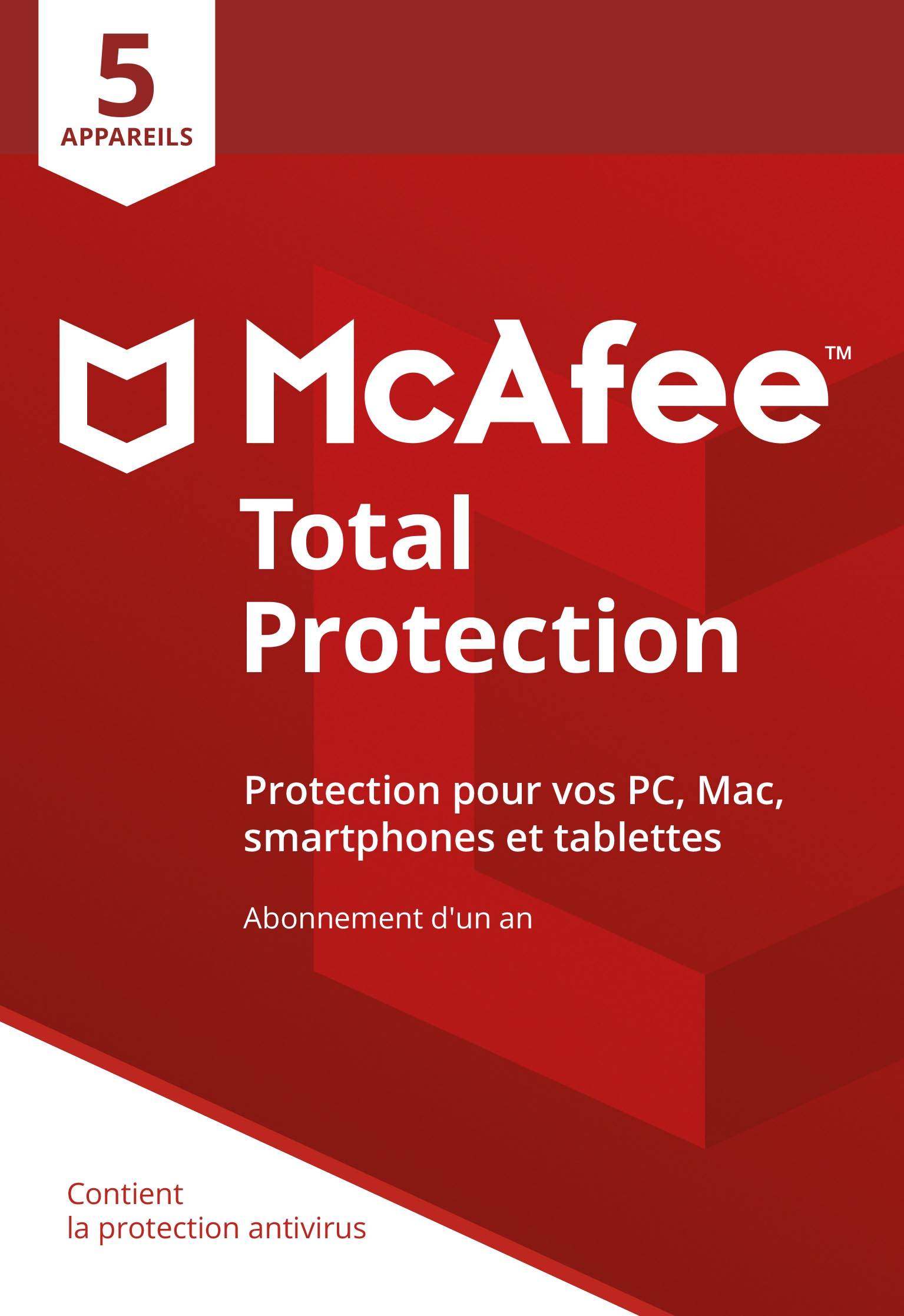 McAfee Total Protection 2018   5 Appareils [Download Code]