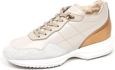 Hogan E4810 Sneaker Donna Ivory Interactive Scarpe Interno ecopelo Shoe Woman