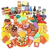 Magicfun 139 Pièces Jouets de Cuisine, Jeu D'imitation Jouet de Aliments Plastique pour Fruits et Légumes, Jouets…