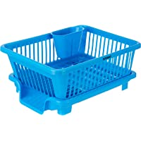 Amazon Brand - Solimo Dish Drainer and Drying Rack for Kitchen Organizer