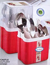 Arrison Plastic Cutlery Strainer and Organizer, 390g, Red