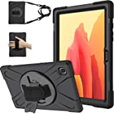 ABOUTTHEFIT TPU Protection Case with 360 Stand for Samsung Galaxy Tab A7, Black