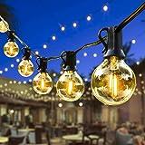 Lichtketting Buiten, Outdoor Lichtgevende slingers, G40 LED-lichte ketting Waterdichte krans lichten buiten wit warm voor pat