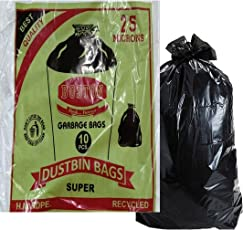 PuffinTM Garbage Bags (Big) Size 29 Inch * 39 Inch (Pack Of 5) 50 Bags (Trash Bag/ Dustbin Bag)