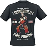 TEKKEN Paul Phoenix Homme T-Shirt Manches Courtes Noir, Regular/Coupe Standard
