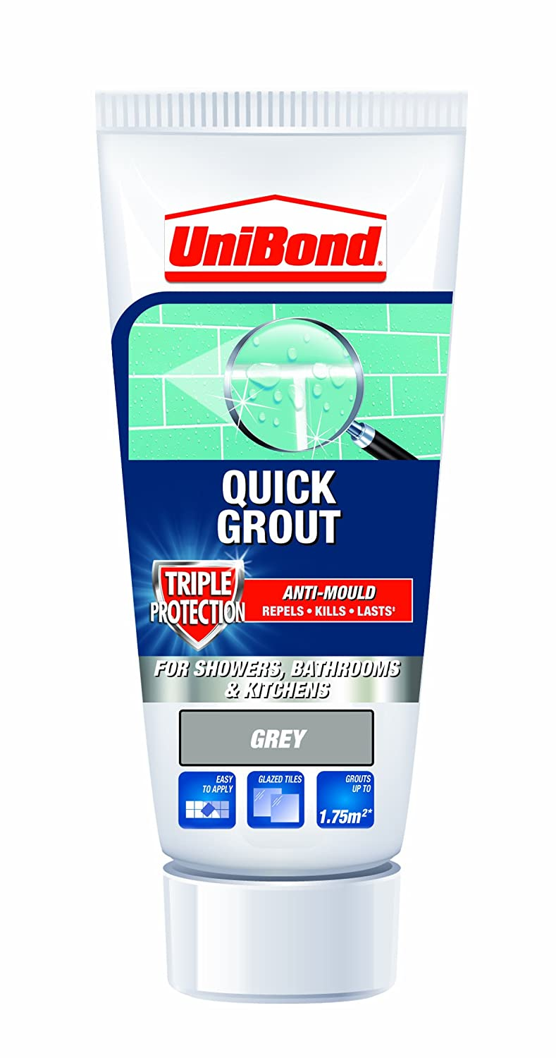Unibond triple protect anti mould wall tile grout tube grey unibond triple protect anti mould wall tile grout tube grey amazon diy tools dailygadgetfo Images