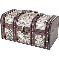 HMF 6410-159 Kuba Coffre au trésor en bois 38 x 20 x 19 cm Boîte de rangement