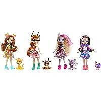Enchantimals coffret Savane Ensoleillée 4 mini-poupées Griselda, Gabriela, Zadie, Ofelia et leurs figurines animales…