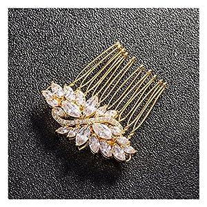 LZHA Bridal Hair Dressing Hochzeit Blume Kristall Strass Diamant Perlen Haarspange Kamm Haircomb
