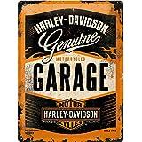 Nostalgic-Art Retro Tin Sign – Harley-Davidson Garage – Gift idea for motorcycle fans, Metal Plaque, Vintage design for wall