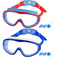 COOLOO 2-PACK Kids Swimming Goggles, Kids Swim Goggles Junior Children Girls Boys Early Teens Age 3-15, with Anti-Fog…