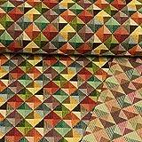 Gobelin Stoff Dreiecke im Quadrat bunt Dekorationen - Preis