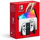 Console Nintendo Switch (Modèle OLED) avec Station d'Accueil/Manettes Joy-Con Blanches