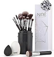 Niré beauty set: Make Up pennelli trucco con pennello di bellezza, frullatore e detergente