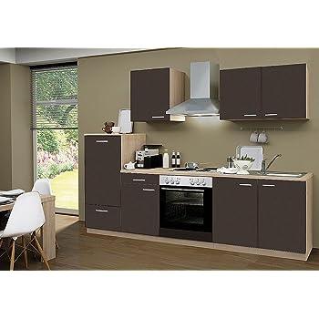Idealshopping Küchenblock Mit Elektrogeräten Classic 270 Cm In Lava