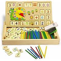 Montessori Maths Jouet en bois de dessin numérique d'apprentissage Boîte avec Multi Fonctions