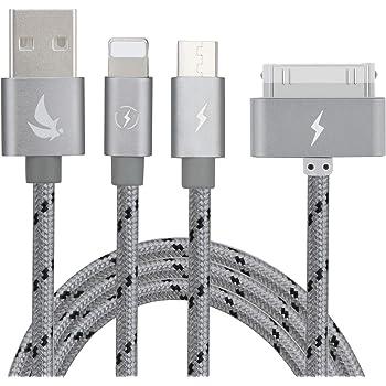 Elitesoft Ad Alta Velocità 1.5M Multiple 3 in 1 Cavo di Ricarica USB