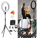 SHYLOC 24 Inches Big LED Ring Light with 6 ft Tripod for Camera Smartphone (with Stand)