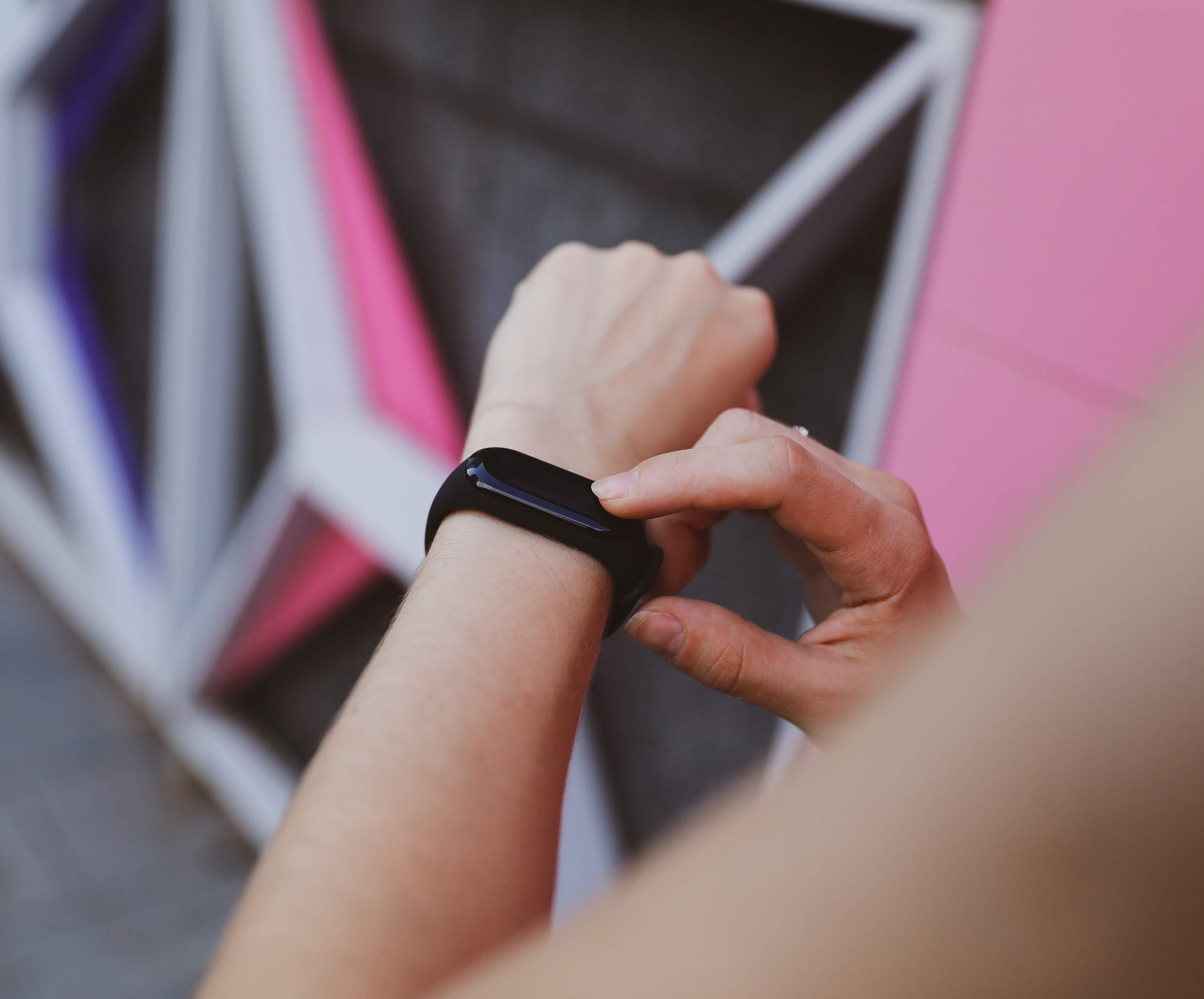 Xiaomi Mi Band 3-D/EU Versión rastreador de Actividad, podómetro, Reloj, Reloj de Pulsera, calorías, Monitor de Distancia, análisis del sueño, Impermeable, notificaciones, aplicación, Color Negro