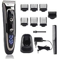 Haarschneidemaschine Herren, 11-In-1 Profi Bart und Haarschneider Set, 28 Längen 7 Aufsätze, Haarschneidegerät für Akku…