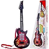 Leic Jouet de guitare électrique 4 cordes Instruments de Simsulation jouant de la guitare électrique jouet éducatif musical c