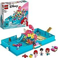 LEGO 43176 Disney Princess Les Aventures d'Ariel dans Un Livre de Contes, La Petite Sirène, Jeu de Voyage Cadeau Enfant