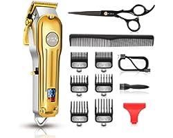 Maquina Cortar Pelo Profesional, CIICII Cortapelos Hombre & Recortadora de Barba (12Pcs/ Inalámbrico/Recargable/USB/LCD Panta