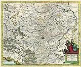 Historische Karte: Land Thüringen 1690: Landgraviatus Thuringia. In omnes suos Comitatus. (Plano) - David Funcke