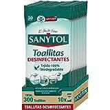 Sanytol – Toallitas Desinfectantes Multiusos, Eliminan Bacterias, Hongos y Virus Sin Lejía, Perfume Eucaliptus - Pack de 10 x