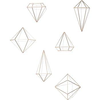 Amazon De Umbra Prisma Geometrische Wanddekoration Deko Zum