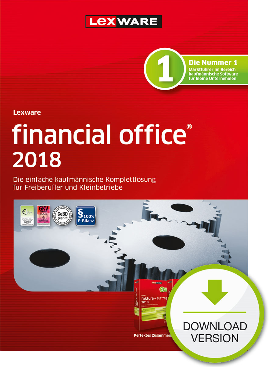 Lexware financial office 2018 Download Jahresversion (365-Tage) [Online Code]