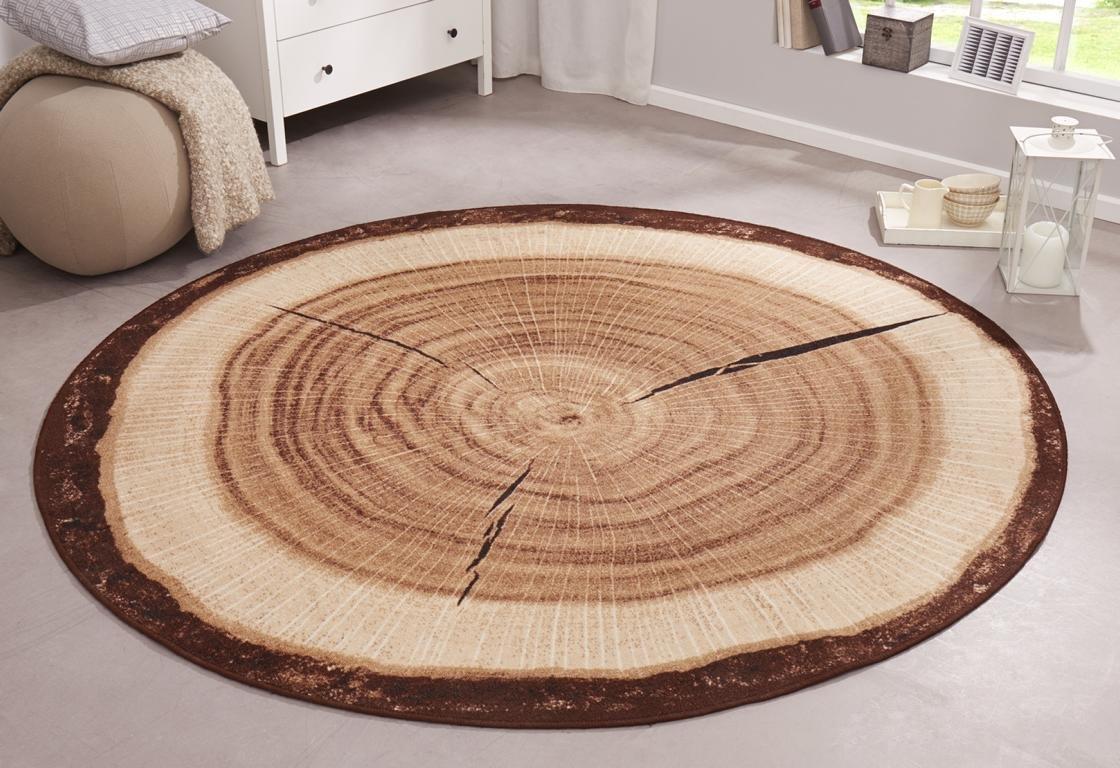 Teppich rund braun  Hanse Home 102656 Teppich, Polyamid, grau, 100 x 100 cm: Amazon.de ...