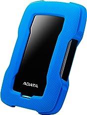 ADATA HD330 External Hard Drive with AES 256-bit encryption Dashingly Tough (1TB, Blue)