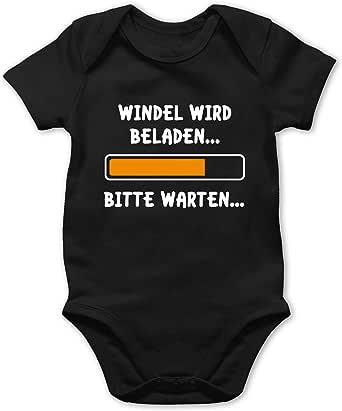 Shirtracer Windel Wird beladen Baby T-Shirt Kurzarm Spr/üche Baby
