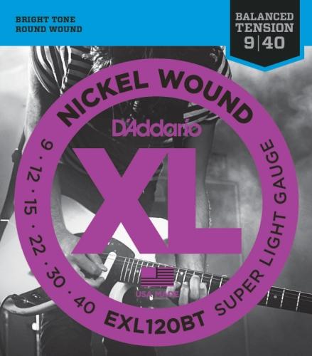 D'Addario EXL120BT Saiten Satz E-Gitarre 009 - 040 Super Light Balanced Tension